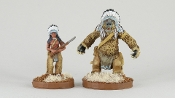 PM OWMS011 Native American Were Bear (Before & After)