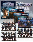 NS NSSGDeal3Stargrave Rulebook and all the Figures